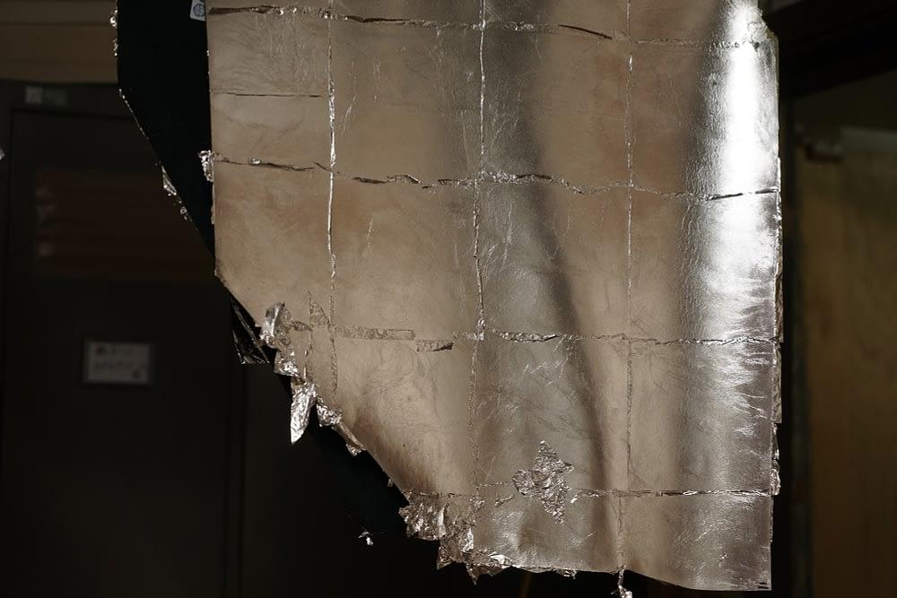 Kyoto leather silver leaf